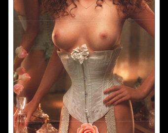 """Mature Playboy August 1996 : Playmate Centerfold Jessica Lee Gatefold 3 Page Spread Photo Wall Art Decor 11"""" x 23"""""""