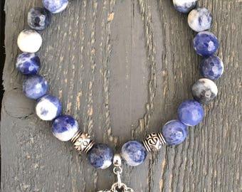 Elephant Bracelet, Elephant Jewelry, Beaded Bracelet, Boho Bracelet, Charm Bracelet, Silver Elephant, Elephant