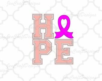 Cancer Awareness SVG Cuttable File -SVG Files, Vector Art, Cricut Explore, Silhouette Cameo, Digital Cut Filer Cutting Machines