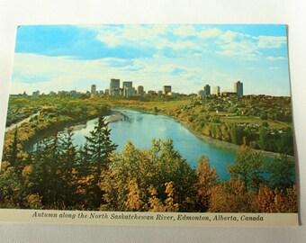 Edmonton Alberta Postcard / Autumn Edmonton Souvenir / vintage Edmonton Postcard / Autumn postcard / Majestic PostcaRD