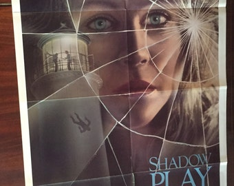 Shadow Play 1986 Original Movie Poster / Vintage Movie Theater Promotional Film Poster for Shadow Play starring Cloris Leachman