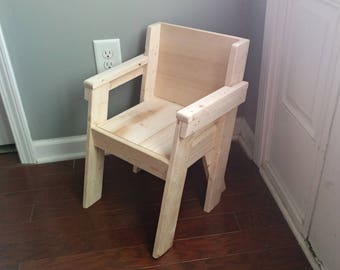 Childs Chair, Toddler Chair, Small Wood Chair, Kids Chair, Wood Chair,