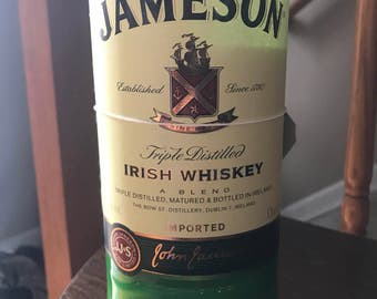 Repurposed Liquor Bottle Candle- Jameson irish whiskey- handmade in Pataskala, Ohio You Pick your Scent!