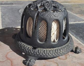 Vintage Ornate Cast Iron Twine Holder Spool Holder