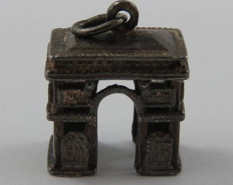 Arc de Triomphe Sterling Silver Vintage Charm For Bracelet