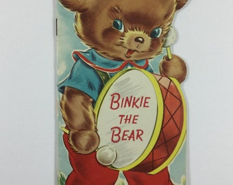 Binkie the Bear Vintage 1949 Children's Rand McNally Elf Book