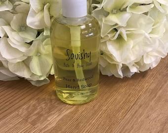 Pear and Redwood Liquid Hand Soap - 8 oz
