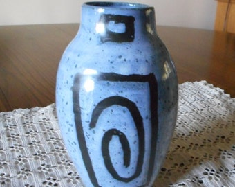 Handmade Stoneware - Blue Vase