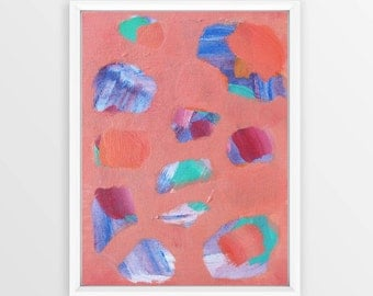 Abstract Art on Painting Board Original Art Abstract Wall art Pastel Painting Modern artwork Wall hanging Home decor Small Painting