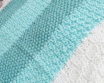 124 PDF Knitting Pattern / Easy Baby Blanket Knitting Pattern, knit pattern Baby Blanket, beginner knitting pattern, Easy knit blanket