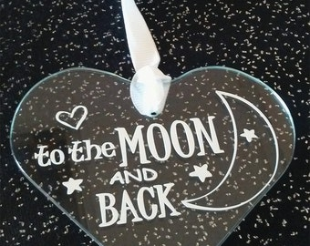 I love you.... To the Moon and Back Ornament