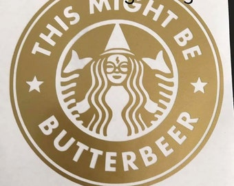 Harry Potter Butterbeer Logo Batman Starbucks Inspi...
