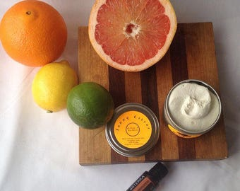 Sunny Citrus Shea Body Butter Lotion Essential Oils Blend