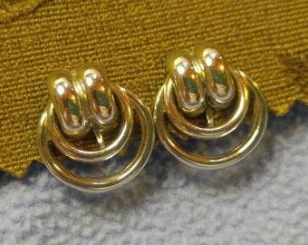 Coro Silvertone Screwback Earrings