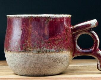 Viking mug, 300 mL/10 fl oz. Handmade to order. Stone-like clay & glazed finish. Personalization available. Coffee cup. Tea cup. Pottery mug