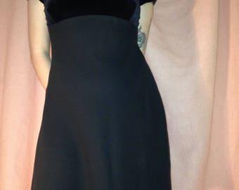 90s black velvet party dress SIZE 8