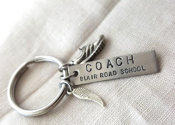 RUNNING COACH KEYCHAIN running coach gift track coach