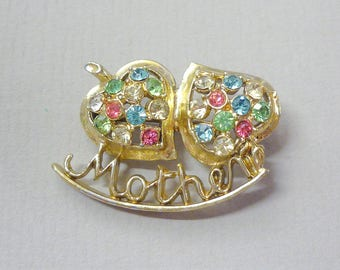 Fifties Kitsch Mother Paste Brooch