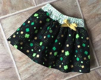 St Patricks Day Skirt, St Patricks Day, Girls Shamrock Skirt, Baby Shamrock Skirt, Toddler Shamrock, Irish Skirt, St Paddys Day, Handmade
