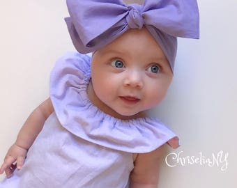 Lilac Headwrap, Baby Head Wrap,  Fabric Head Wrap, Newborn Head Wraps, Toddler Headwraps, Head Wrap, Turban Headwraps