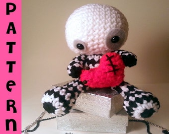 Voodoo Doll Amigurumi - Valentine Plush - Pincushion - Crochet Pattern - Digital Download PDF
