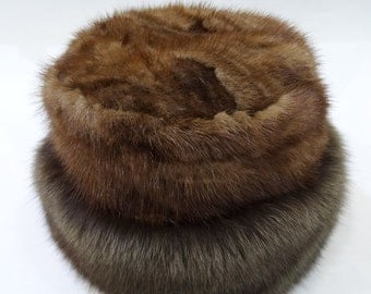 Real Fox and Mink Fur Winter Hat F518