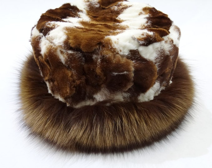 Unique Fox and Mink Fur Hat F517
