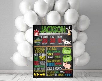 Old MacDonald / On the Farm Birthday Chalkboard Sign {ANY AGE} - Totally customizable