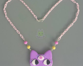 Magical three eyed cat necklace