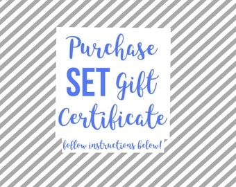 Lingerie Set Gift Certificate - Perfect for holiday and birthday gifting; digital print at home