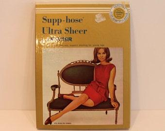 NOS - Kayser Vintage Pantyhose - Supp-hose Ultra Sheer Nylons - Vintage Hosiery - Kayser-Roth - Spandex Nylons