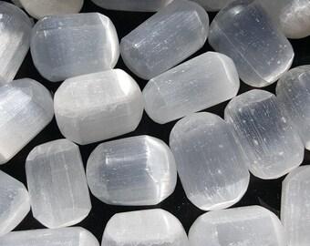 Selenite Tumbled Stone, Selenite Stone, Selenite Pocket Stone