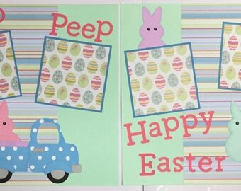 Babies First baby boy baby girl premade scrapbook pages
