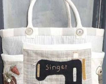 My Sewing Tote Applique PATTERN