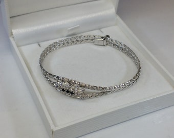 50s bracelet silver 835 and 3 sapphires SA303