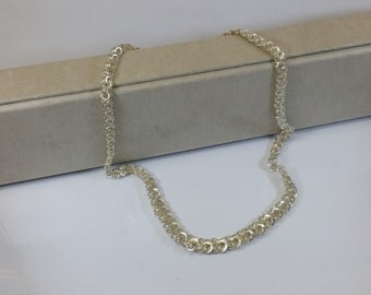 Necklace 835 silver link chain shabby vintage SK214