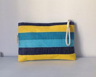 Stripped raffia clutch - Beach hand bag - Summer bag - FREE SHIPPING