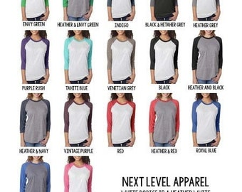 UPGRADE LISTING- Adult Raglan. Please fully read description before ordering.