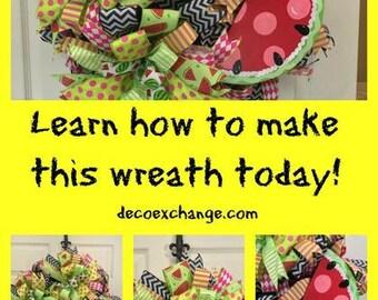 Watermelon Deco Mesh Wreath Tutorial