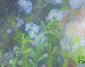 Blue Haze Acrylic Painting Print