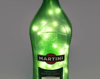 Martini & Rossi Dry Vermouth Bottle Lamp / Dry Gin / Gifts for Men / Gift Ideas