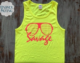 SAVAGE - Tank Top - Neon - Sunglasses