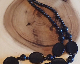 Chunky Circle Beaded Necklace