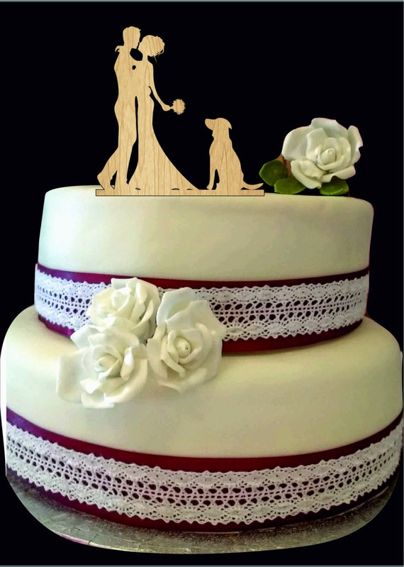 etsy wedding cake topper dog silhouette wedding cake topper with and groom cake 14051