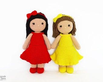 CROCHET PATTERN - Lillian the Friendly Doll - 18 in./45 cm. tall - Amigurumi - Crochet Doll - Nursery Kids Gift Toy - Instant PDF Download