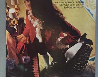 1969 Kotex Napkins Print Ad