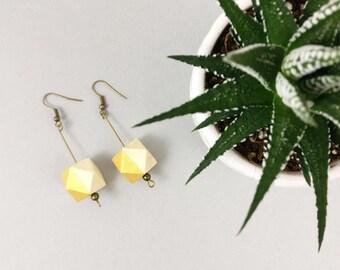 Geometric Earrings - Gold Earrings | Statement Earrings | Nickel Free | Dangle earrings | Gift for her | Gift for wife | Bridesmaid gift