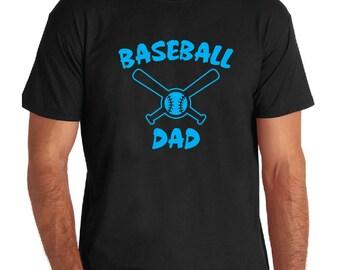 Baseball Mom or Dad - Black, White or Gray T-Shirt