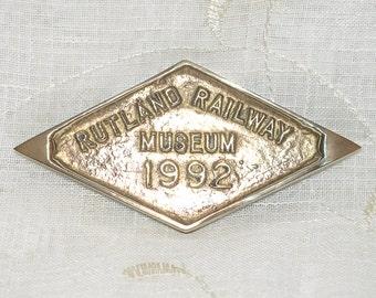 Brass Rutland Railway Museum Plaque