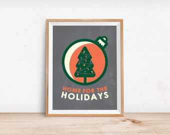Christmas Party Decorations - Minimalist Poster - Decorating Ideas for Christmas - Art Print - Wall Art - Holiday Decorations for the Home